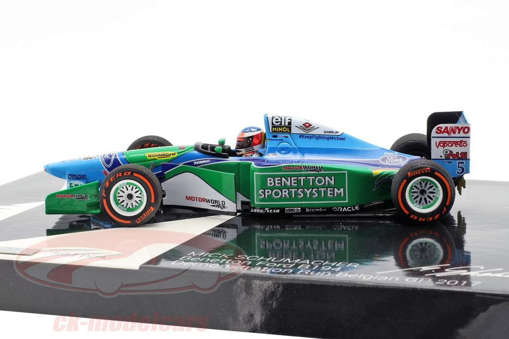Mick Schumacher Benetton B194 #5 Demo Run GP Spa formula 1 2017 1:43 Minichamps