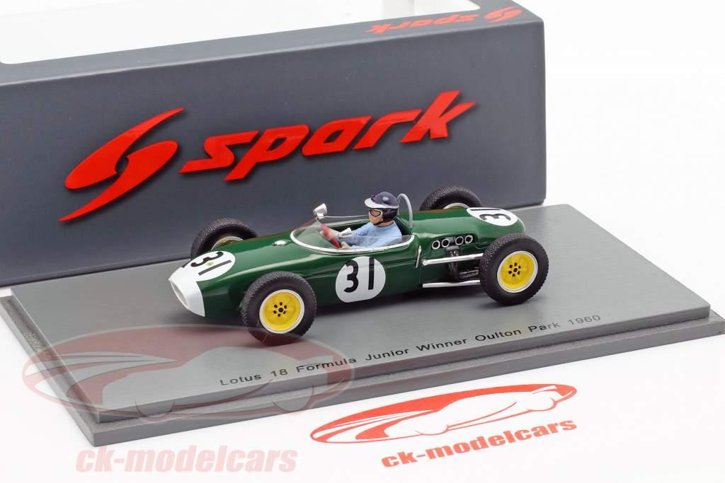Jim Clark Lotus 18 #31 Vinder Oulton Park formel junior 1960 1:43 Spark