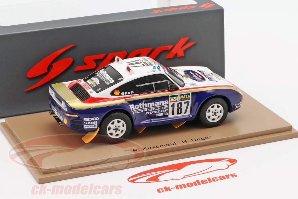 Porsche 959 #187 Rally París - Dakar 1986 Kussmaul, Unger 1:43 Spark