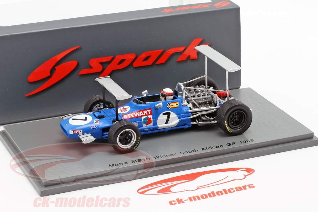 Jackie Stewart Matra MS10 #7 winnaar Zuid-Afrika GP wereldkampioen F1 1969 1:43 Spark