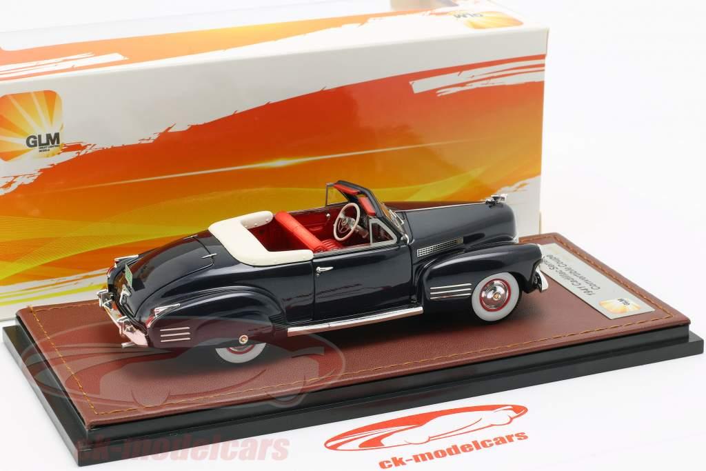 Cadillac Series 62 Cabriolet Open Top Opførselsår 1941 mørkeblå 1:43 GLM