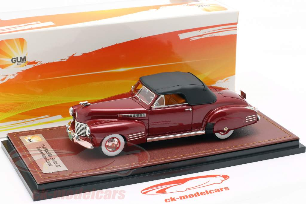 Cadillac Series 62 convertible Closed Top année de construction 1941 sombre rouge 1:43 GLM