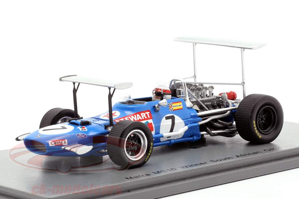 Jackie Stewart Matra MS10 #7 vinder Sydafrika GP verdensmester F1 1969 1:43 Spark