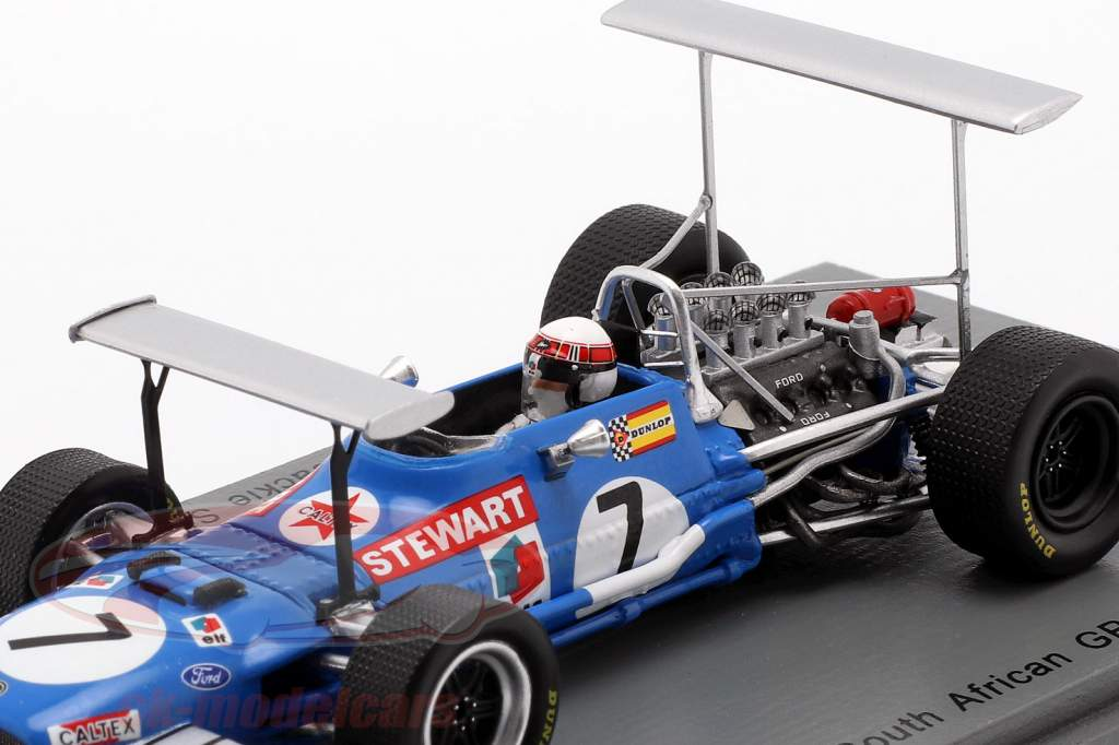 Jackie Stewart Matra MS10 #7 vincitore Sudafrica GP campione del mondo F1 1969 1:43 Spark