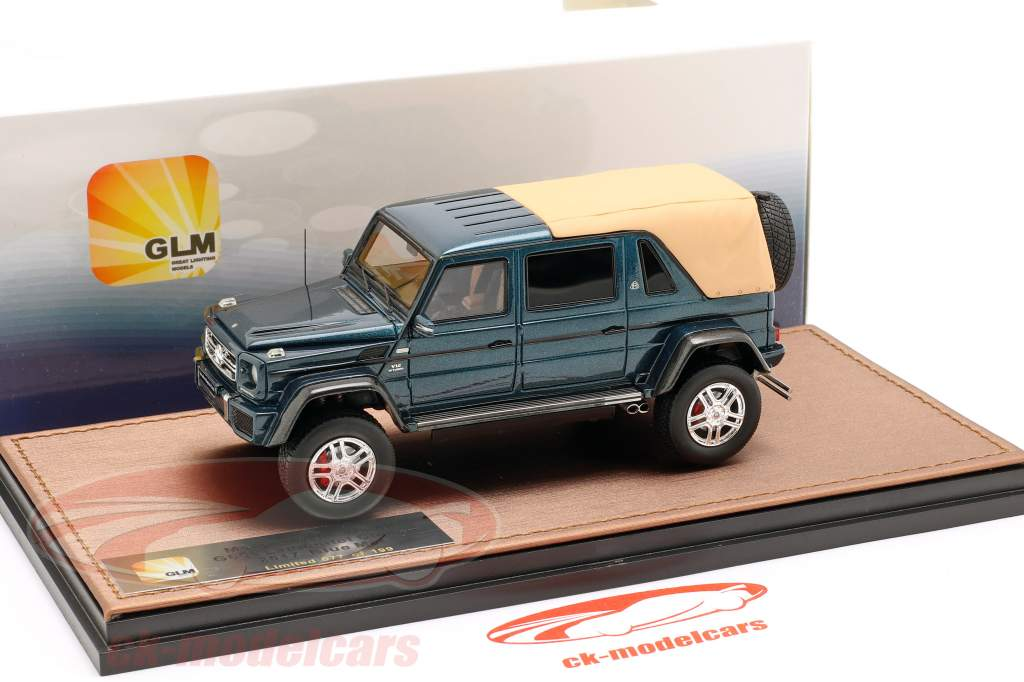 Mercedes-Benz Maybach G650 Landaulet Closed Top Baujahr 2017 blau metallic 1:43 GLM