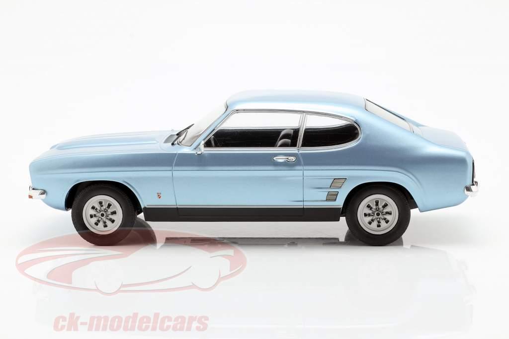 Ford Capri MK I 1600 GT Baujahr 1973 hellblau metallic 1:18 Model Car Group