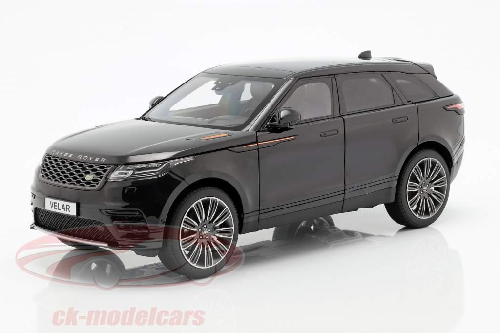 Land Rover Range Rover Velar construído em 2018 preto 1:18 modelos de LCD