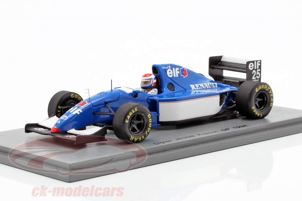 Eric Bernard Ligier JS39B #25 français GP formule 1 1994 1:43 Spark