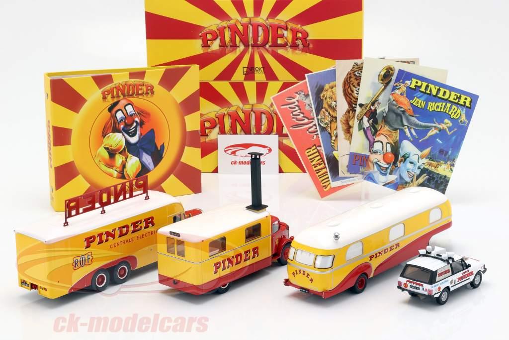 4-Car Set Pinder circo más adicional accesorios 1:43 Direkt Collections
