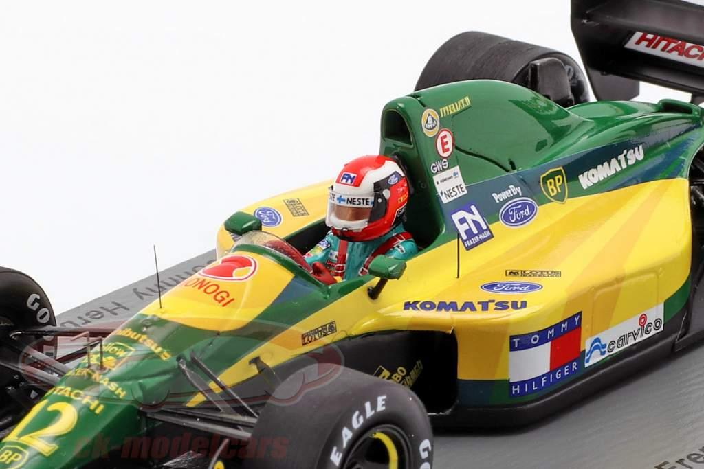 Johnny Herbert Lotus 107 #12 6 français GP formule 1 1992 1:43 Spark