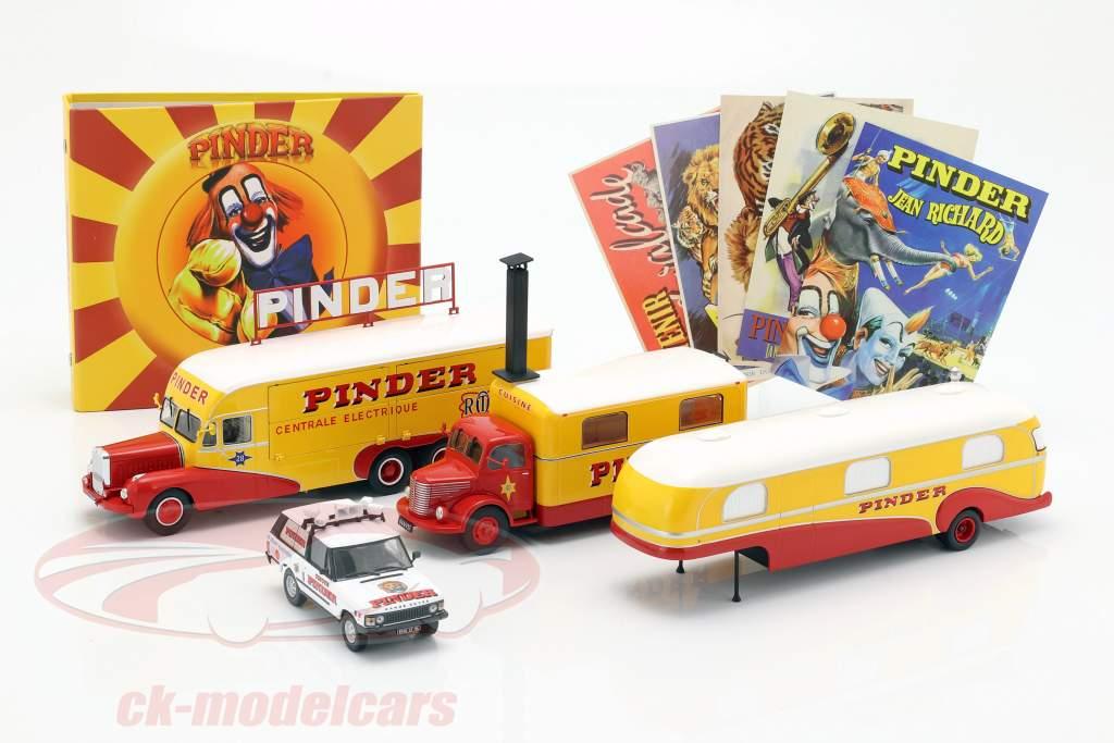 4-Car Set Pinder circo più addizionale accessori 1:43 Direkt Collections