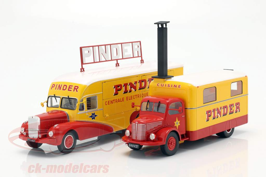4-Car Set Pinder Zirkus inklusive weiterem Zubehör 1:43 Direkt Collections