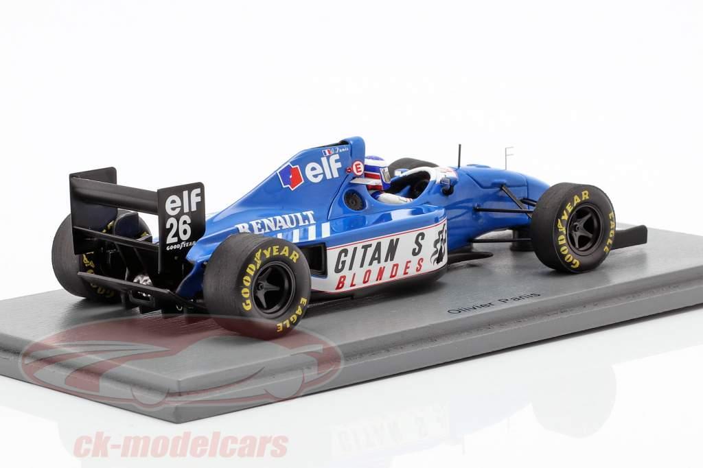 Olivier Panis Ligier JS39B #26 canadiense GP fórmula 1 1994 1:43 Spark
