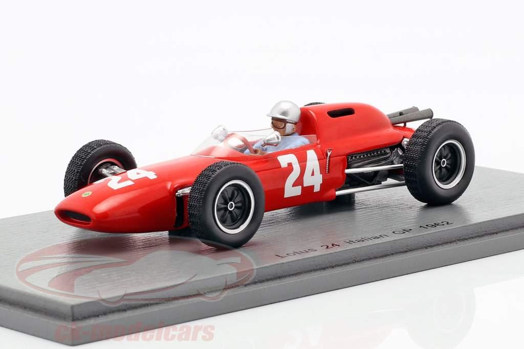 Nino Vaccarella lotus 24 #24 Italiaans GP formule 1 1962 1:43 Spark