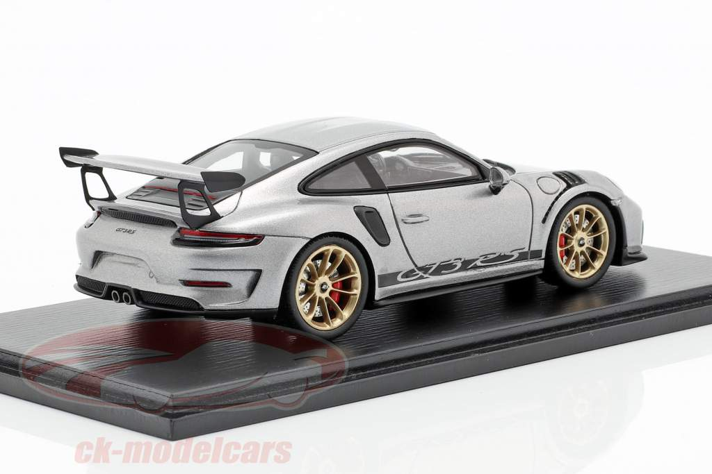 Porsche 911 (991 II) GT3 RS año de construcción 2018 plata metálico 1:43 Spark