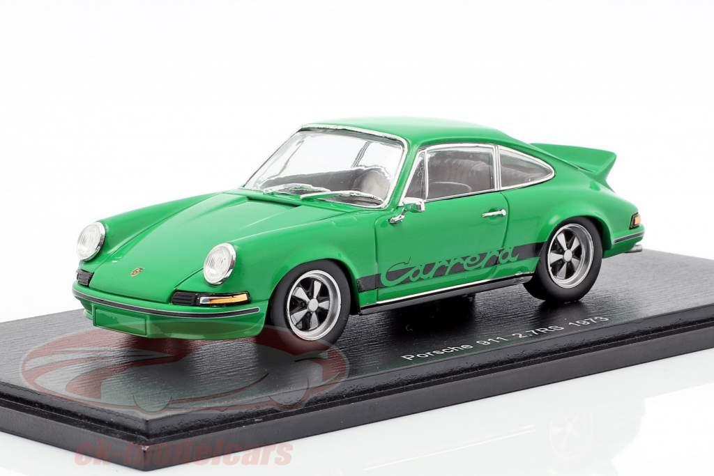Porsche 911 Carrera RS 2.7 ano de construção 1973 verde 1:43 Spark