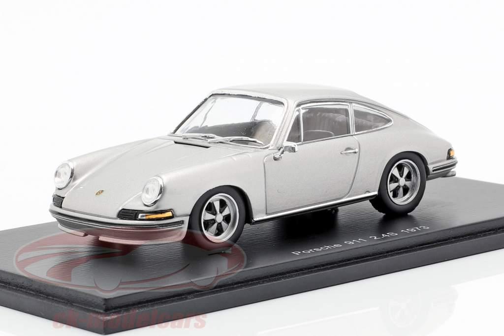 Porsche 911 2.4 anno di costruzione 1973 grigio argento 1:43 Spark