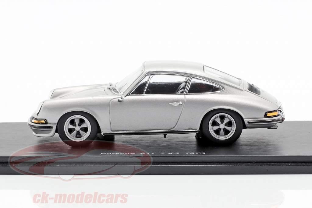 Porsche 911 2.4 Bouwjaar 1973 zilvergrijs 1:43 Spark