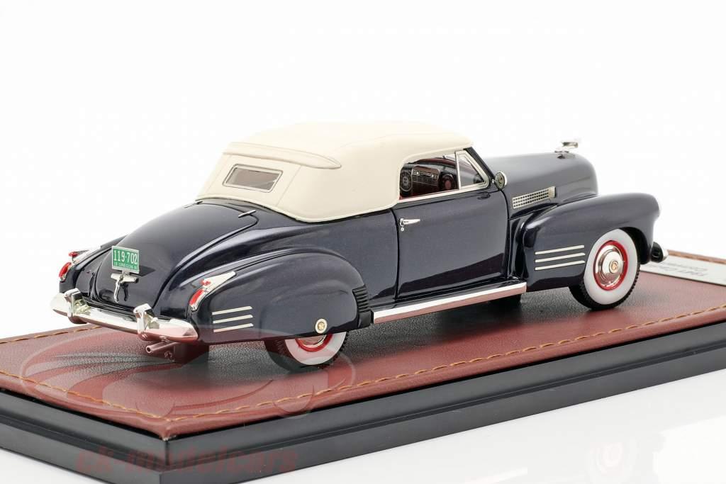Cadillac Series 62 convertible Closed Top année de construction 1941 bleu foncé 1:43 GLM