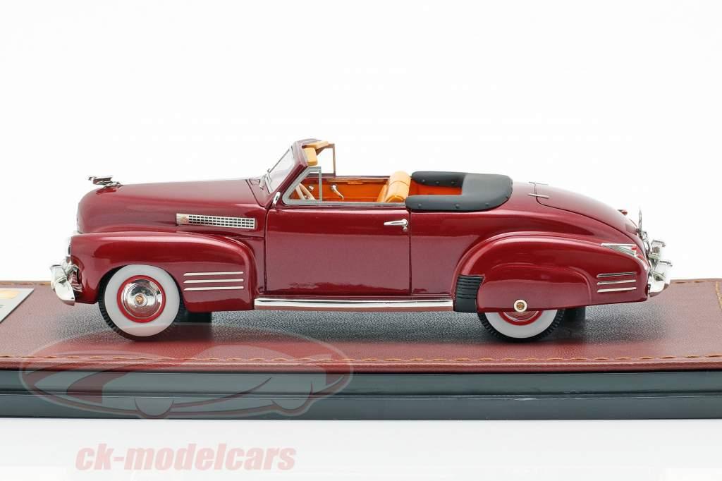 Cadillac Series 62 Cabriolet Open Top Opførselsår 1941 mørk rød 1:43 GLM