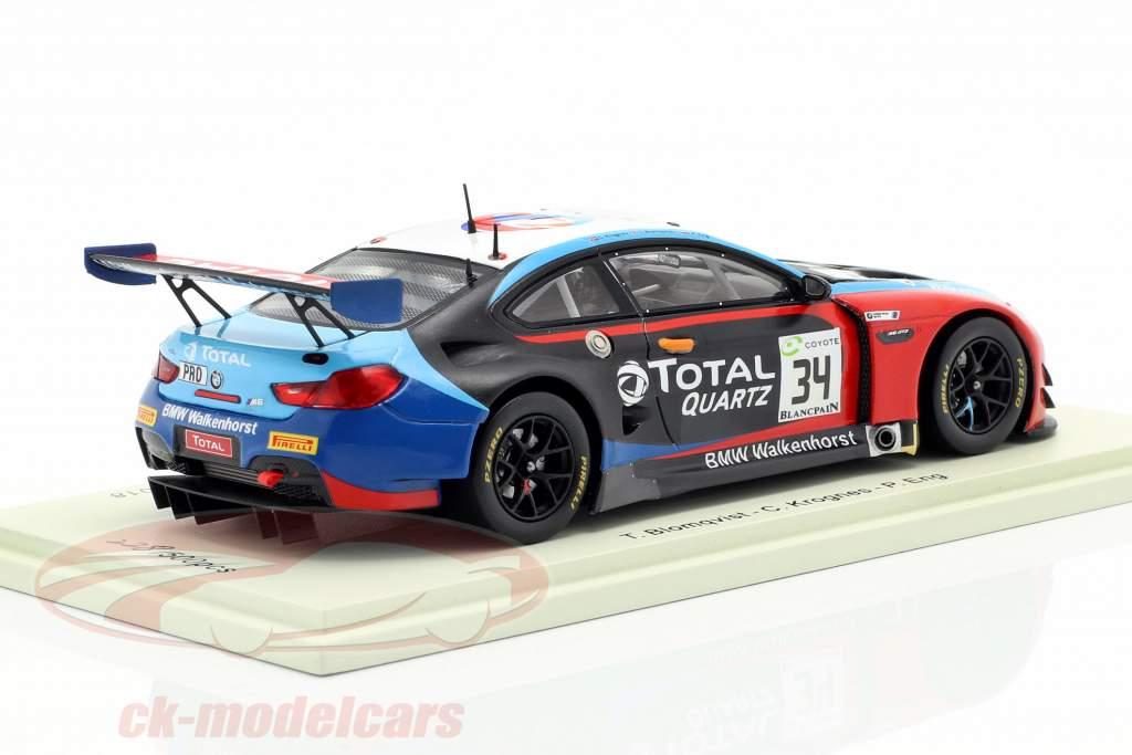 BMW M6 GT3 #34 ganador 24h Spa 2018 Blomqvist, Eng, Krognes 1:43 Spark