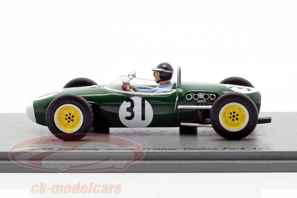 Jim Clark Lotus 18 #31 winnaar Oulton Park formule junior 1960 1:43 Spark