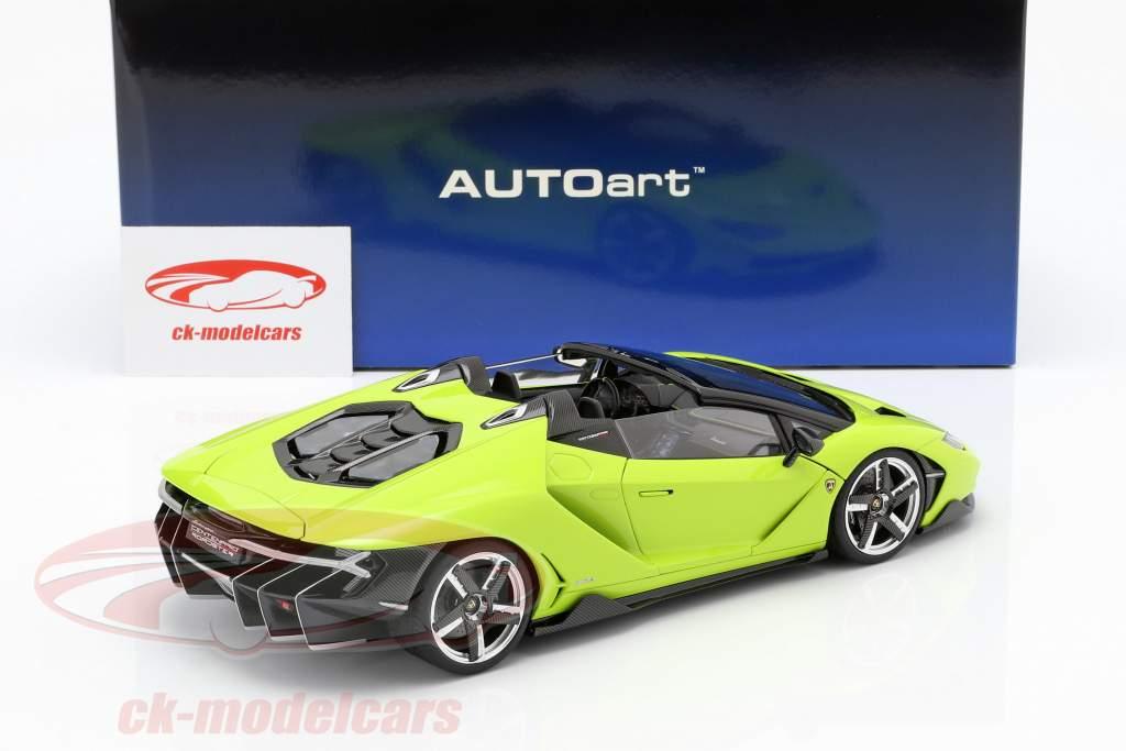 Lamborghini Centenario Roadster Opførselsår 2016 lys grøn 1:18 AUTOart
