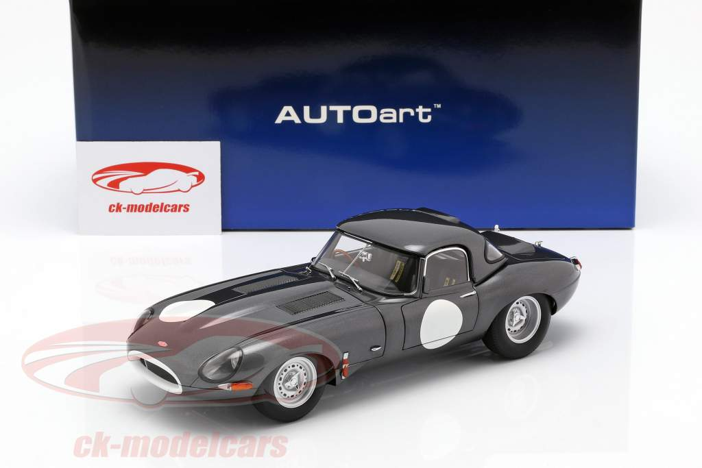 Jaguar Lightweight E-Type with removable Top year 2015 dark grey 1:18 AUTOart