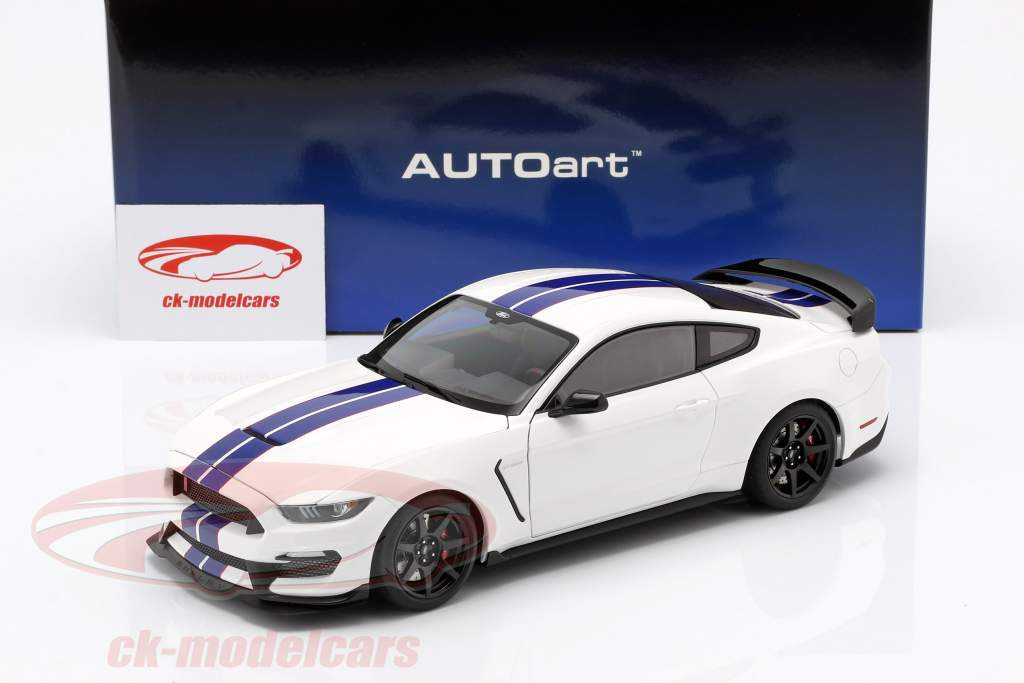 Ford Mustang Shelby GT350R year 2017 oxford white / blue 1:18 AUTOart