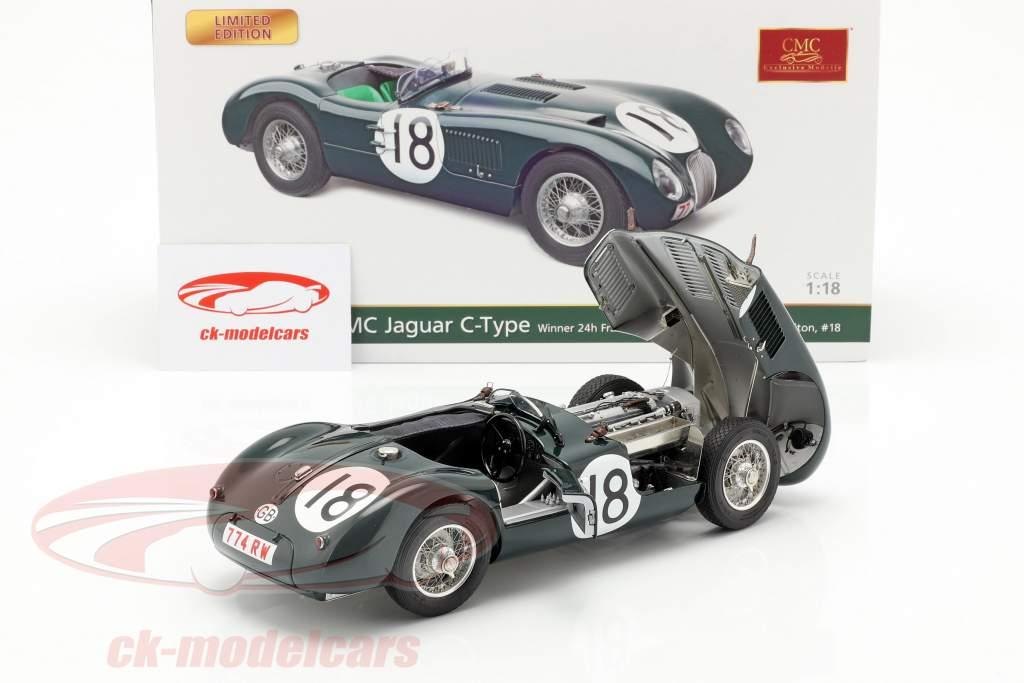 Jaguar C-Type #18 vincitore 24h LeMans 1953 Rolt, Hamilton 1:18 CMC