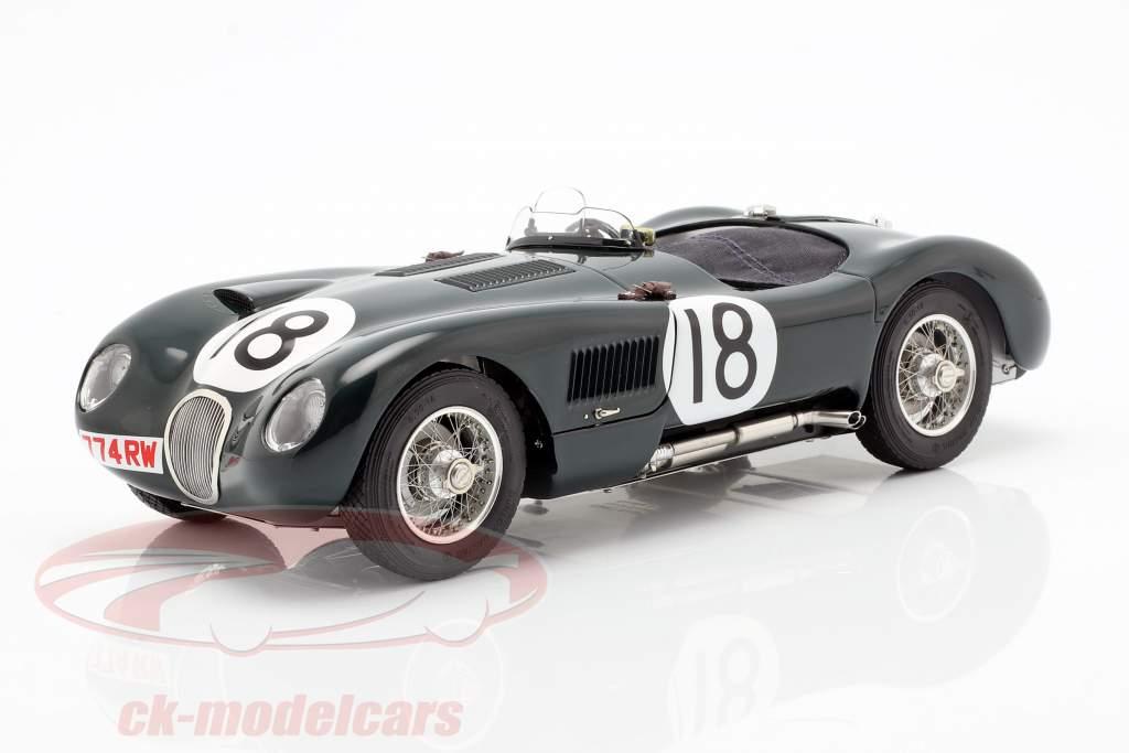 Jaguar C-Type #18 gagnant 24h LeMans 1953 Rolt, Hamilton 1:18 CMC