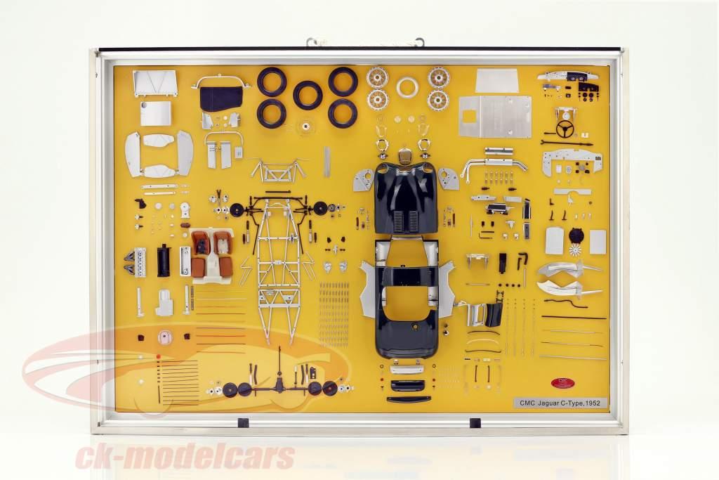 Model Art CMC Jaguar C-Type année de construction 1952 composants afficher 1:18 CMC