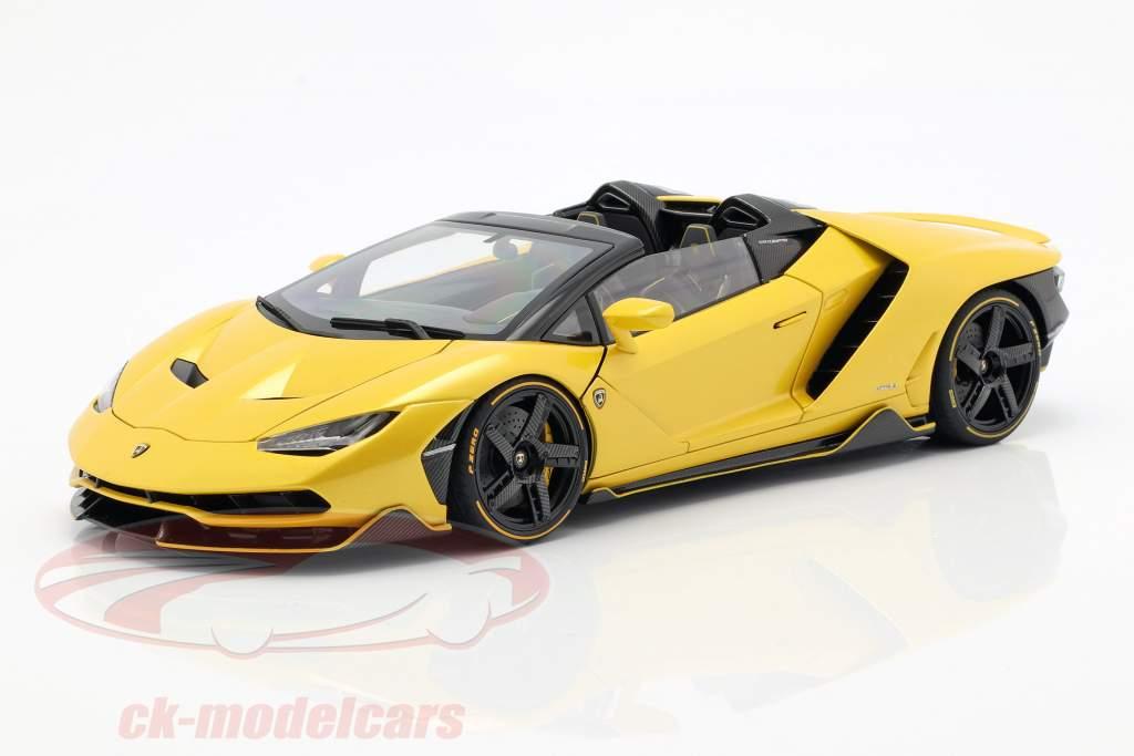 Lamborghini Centenario Roadster Bouwjaar 2016 parel geel 1:18 AUTOart