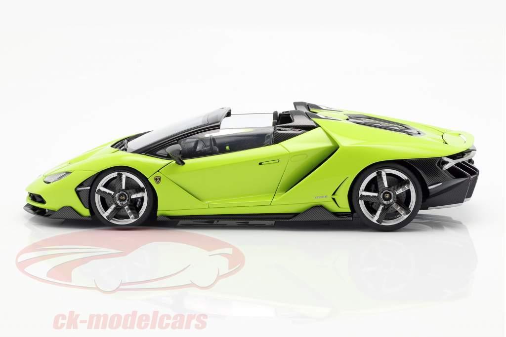 Lamborghini Centenario Roadster year 2016 light green 1:18 AUTOart