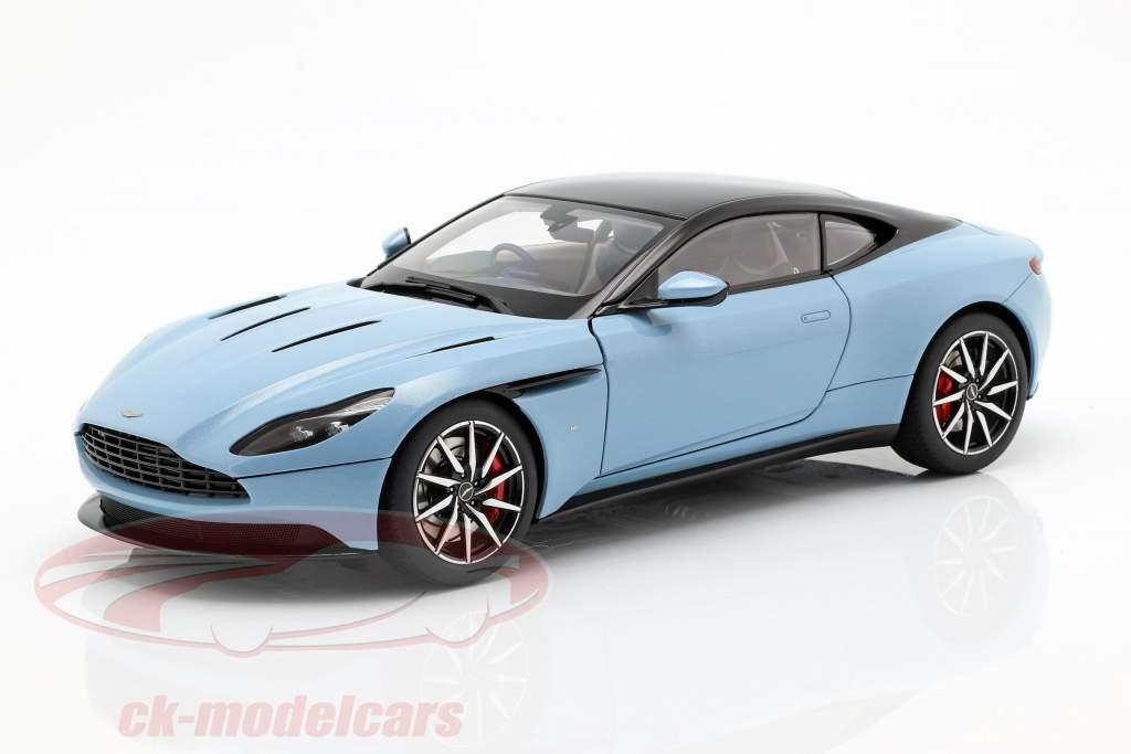 Aston Martin DB11 coupé année de construction 2017 bleu clair métallique 1:18 AUTOart