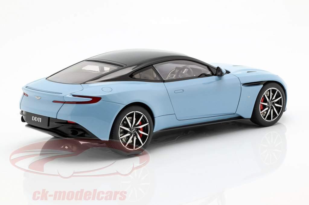 Aston Martin DB11 coupe Bouwjaar 2017 lichtblauw metalen 1:18 AUTOart