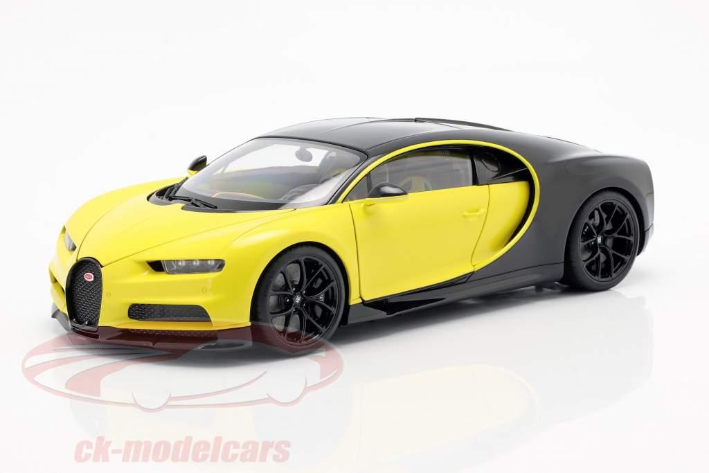 Bugatti Chiron année de construction 2017 jaune / noir 1:18 AUTOart