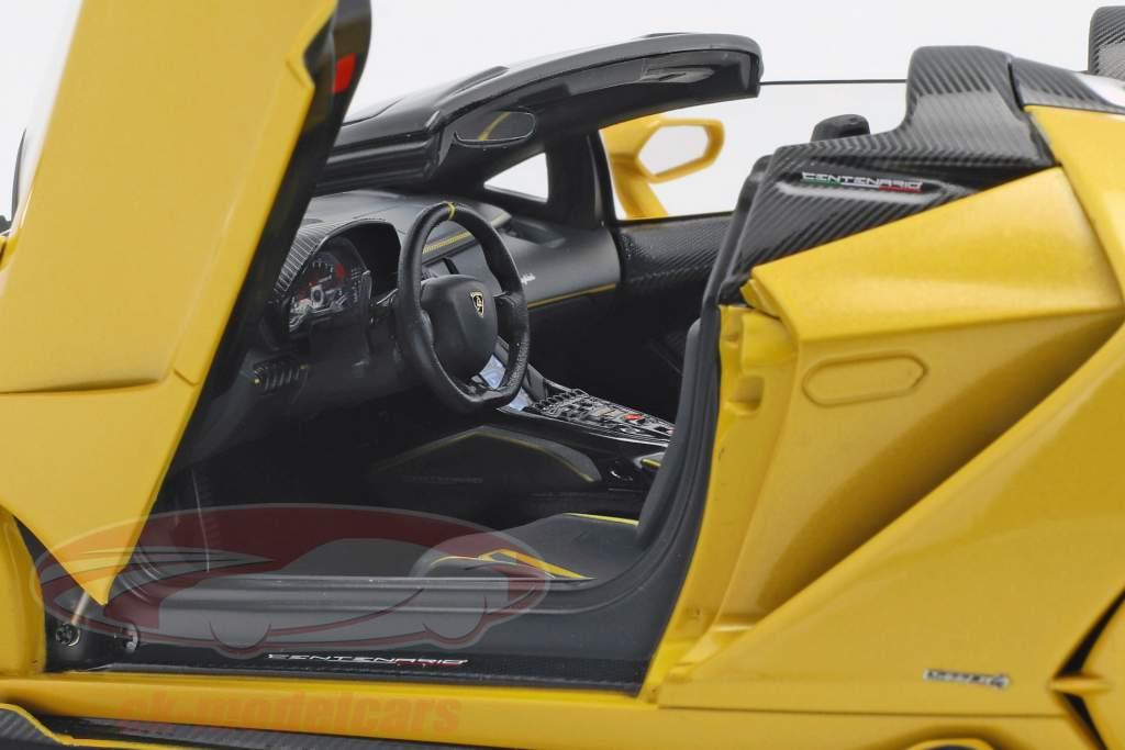 Lamborghini Centenario Roadster year 2016 pearl yellow 1:18 AUTOart