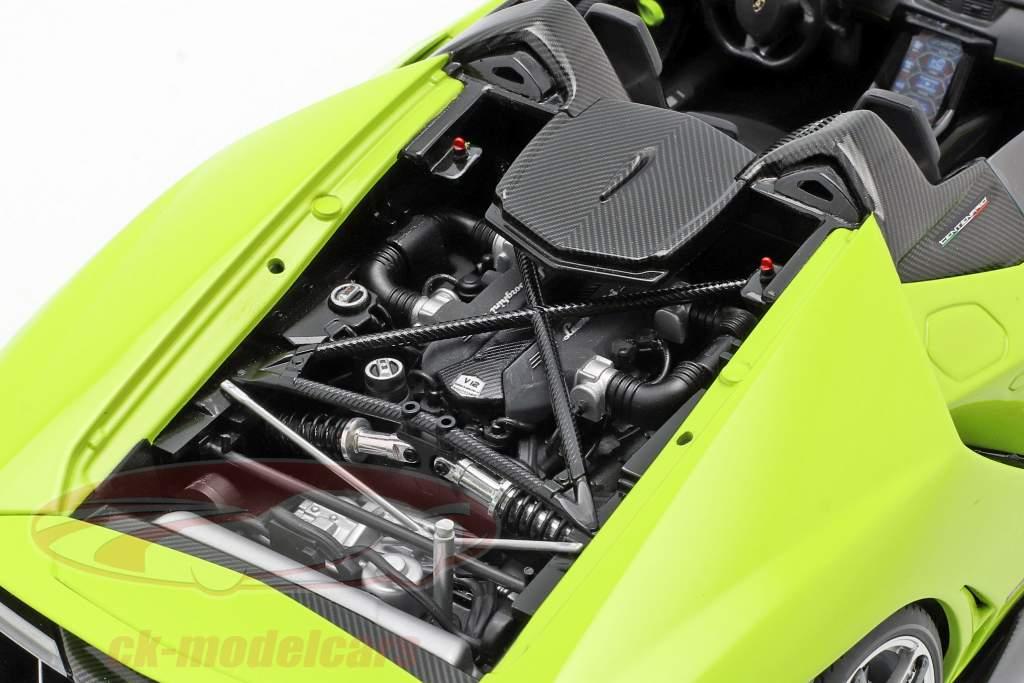 Lamborghini Centenario Roadster ano de construção 2016 luz verde 1:18 AUTOart