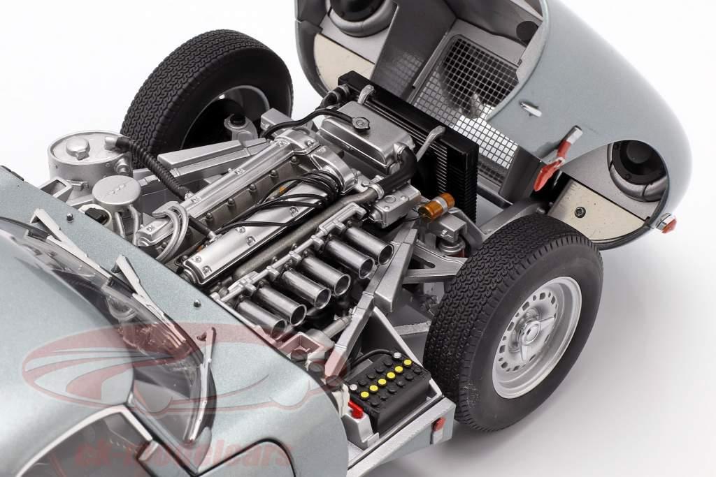 Jaguar Lightweight E-Type avec amovible haut année de construction 2015 argent 1:18 AUTOart
