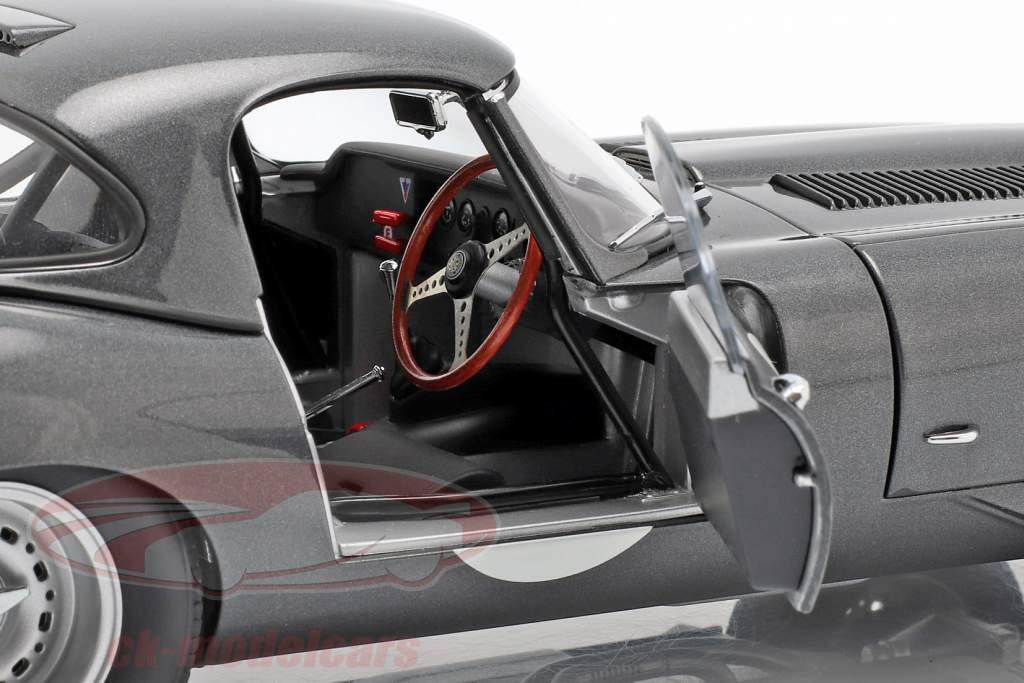 Jaguar Lightweight E-Type con desmontable superior año de construcción 2015 gris oscuro 1:18 AUTOart
