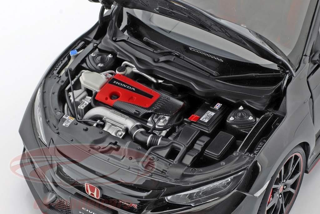 Honda Civic Type R (FK8) Bouwjaar 2017 kristal zwart parel 1:18 AUTOart