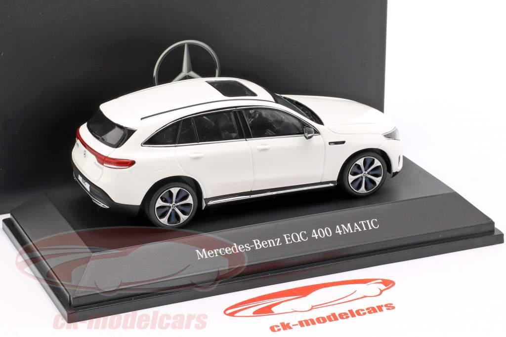 Mercedes-Benz EQC 400 4MATIC (N293) Opførselsår 2019 polar hvid 1:43 Spark