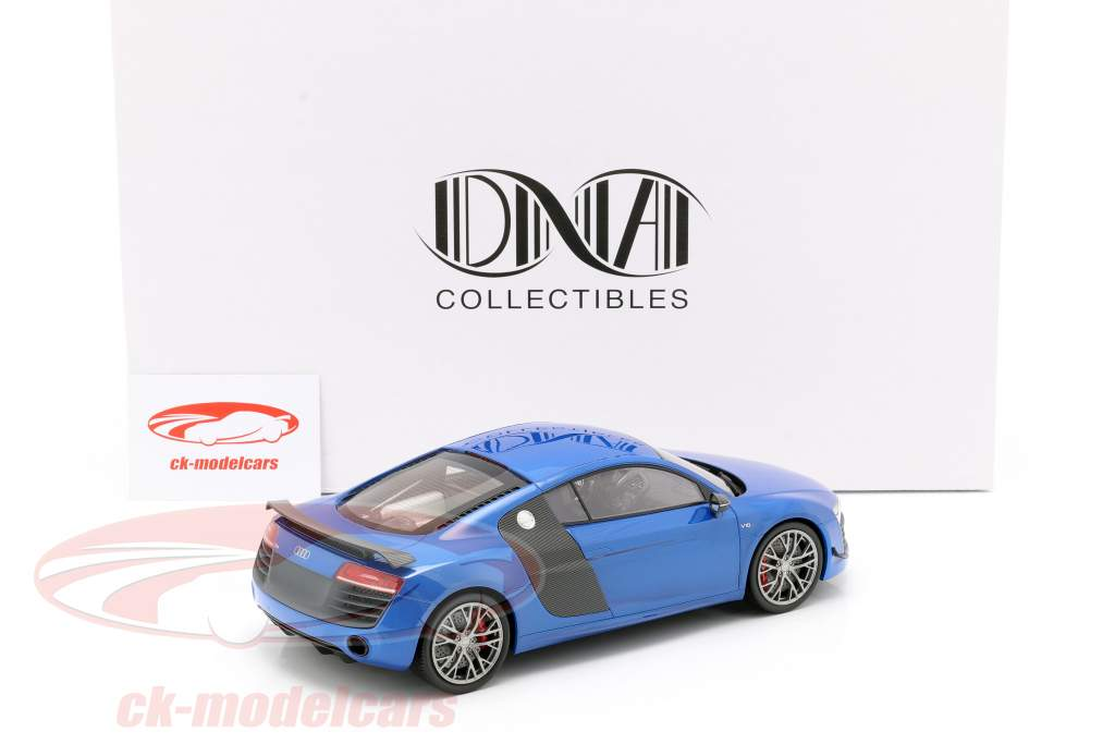 Audi R8 LMX year 2014 ara blue 1:18 DNA Collectibles