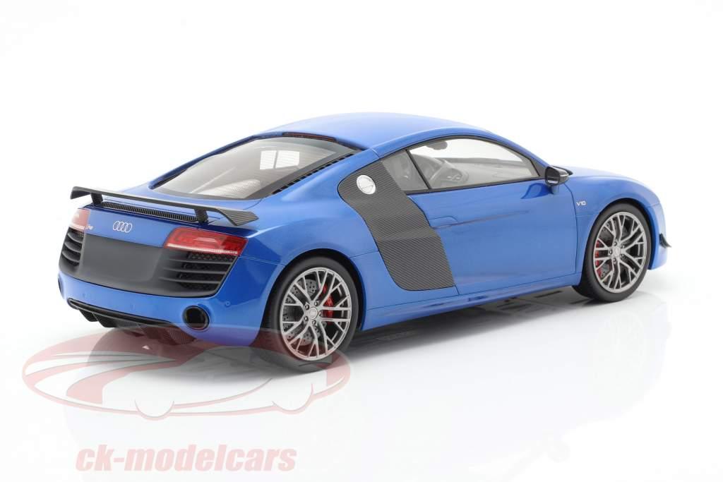 Audi R8 LMX ano de construção 2014 ara azul 1:18 DNA Collectibles
