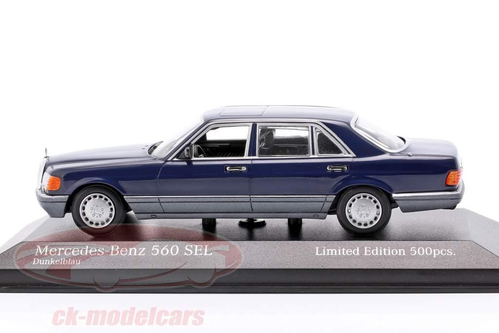 Mercedes-Benz 560 SEL (V126) Baujahr 1990 dunkelblau 1:43 Minichamps