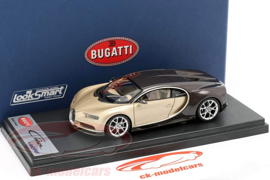 Bugatti Chiron Geneva Motor Show 2016 goud / bruin 1:43 LookSmart