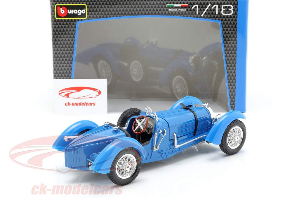 Bugatti Type 59 Baujahr 1934 blau 1:18 Bburago