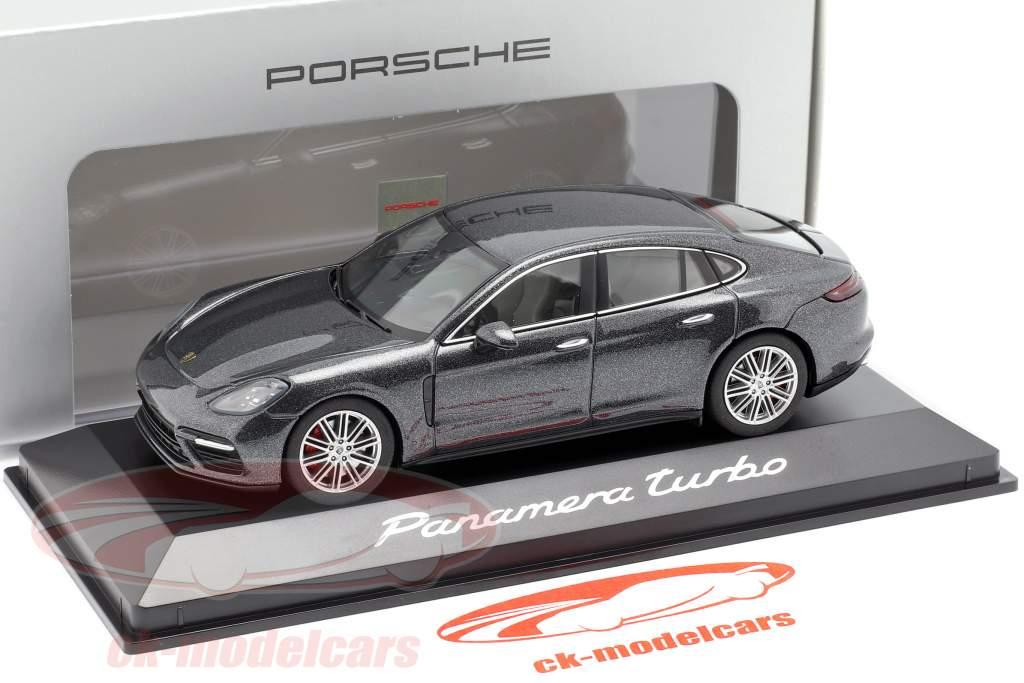 Porsche Panamera Turbo (2. Gen.) Bouwjaar 2016 vulkaan Grijs metalen 1:43 Herpa