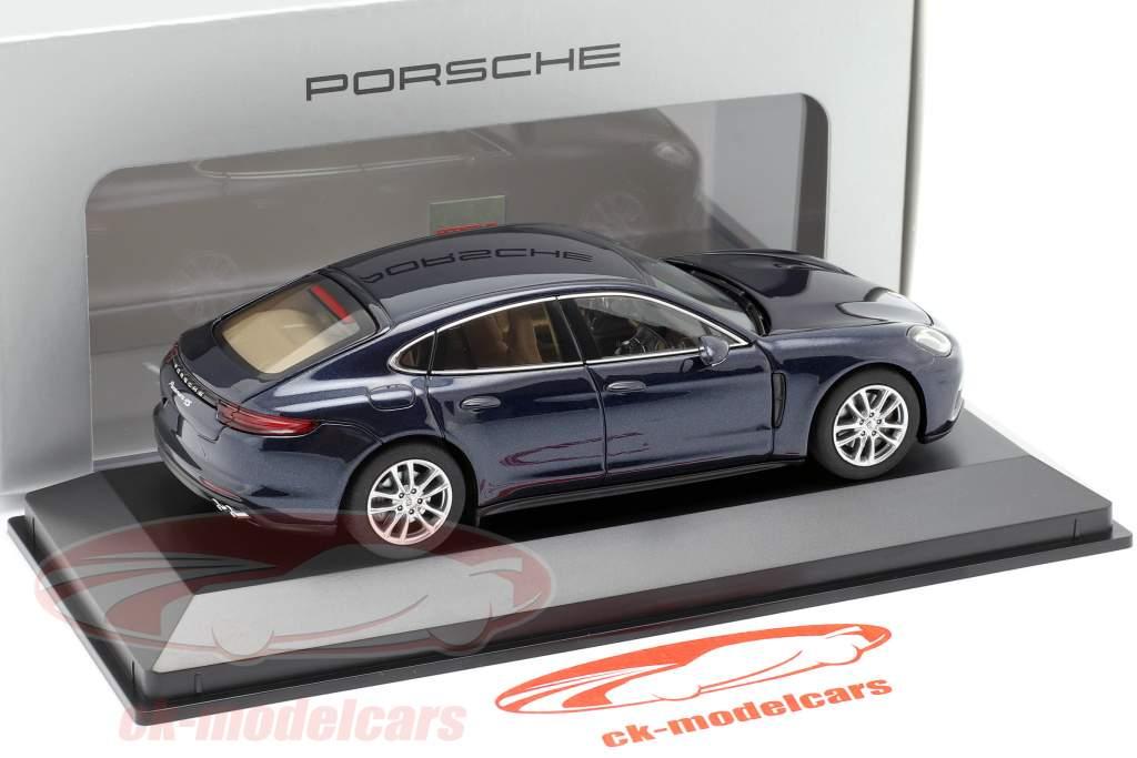 Porsche Panamera 4S diesel (2. Gen.) Byggeår 2016 nat blå metallisk 1:43 Herpa